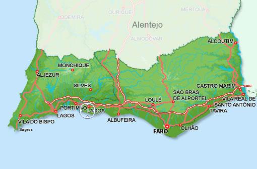 Villa Blue Ocean Algarve Location
